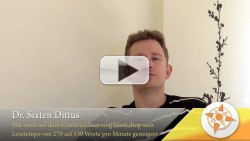 Video-Feedback von Dr. Sixten Dittus
